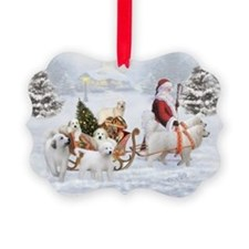 Great Pyrenees &Amp; Santa, Picture Ornament