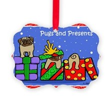 Pugs Love Christmas Presents Ornament
