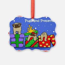 Pugs Love Christmas Presents Ornament