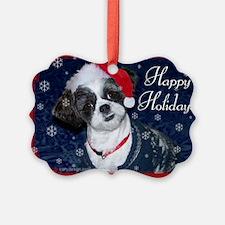 Shih Tzu Santa Ornament