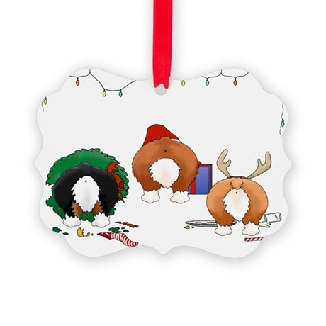 Welsh Corgi Christmas Picture Ornament