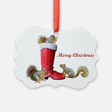Squirrels in Santa's Boot Ornament0