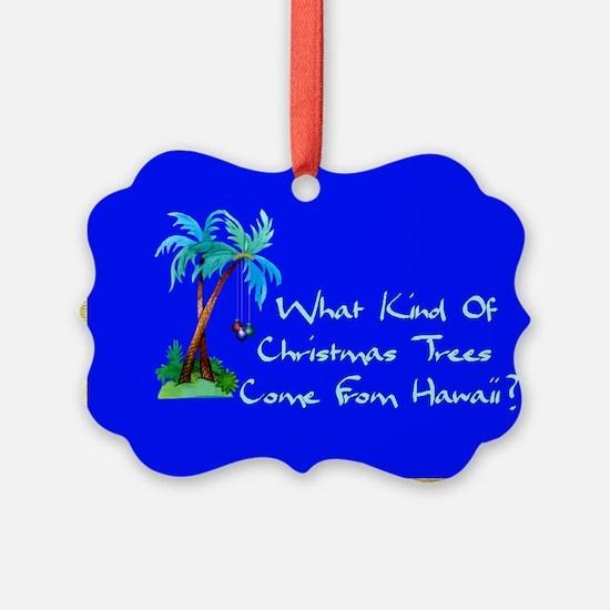 Hawaiian Christmas Trees Ornament