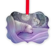Polar bear and Angel Ornament