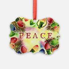 Peace Christmas Lights Ornament
