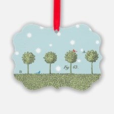 Birds in Trees Holiday Ornament