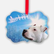 Unique Holiday bull dogs Ornament