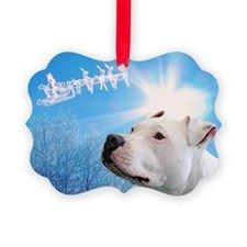 Cute Santa and reindeer Picture Ornament