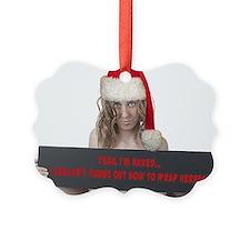 Naked Christmas Ornament