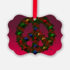 Christmas Peace Wreath Ornament