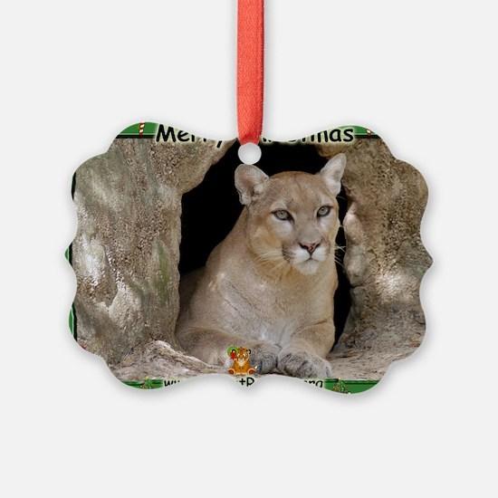 #012 Cougar Christmas Ornament