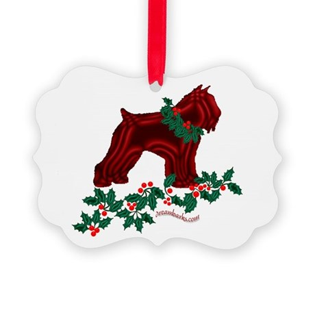 Bouvier & Holly Picture Ornament