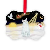 Christmas cat Picture Frame Ornaments