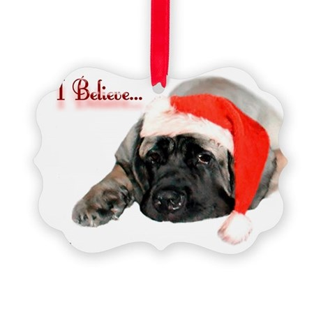 I Believe fawn Picture Ornament