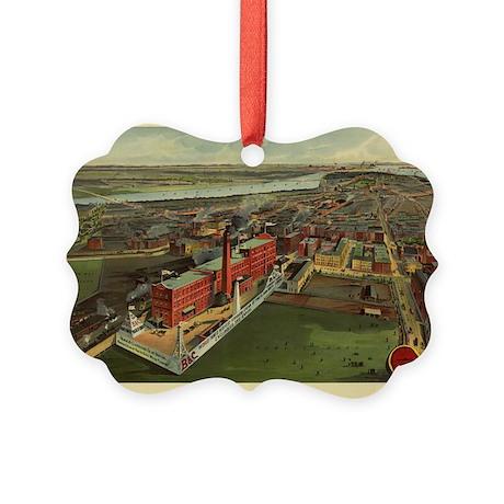 Boston Antique Map Picture Ornament