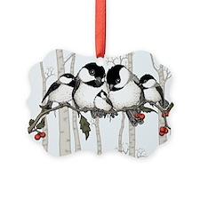 Chickadee Family Ornament