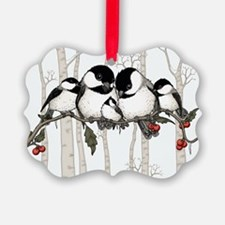 Chickadee Family Ornament