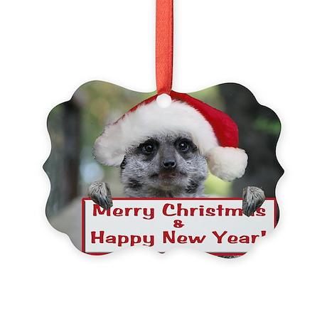 Helaine's Christmas Meerkat Picture Ornament