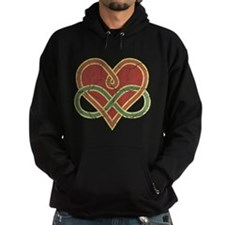 Grungy Polyamory Heart Hoodie