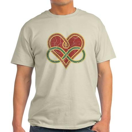 Grungy Polyamory Heart Light T-Shirt