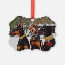 Dober Girls Christmas Ornament