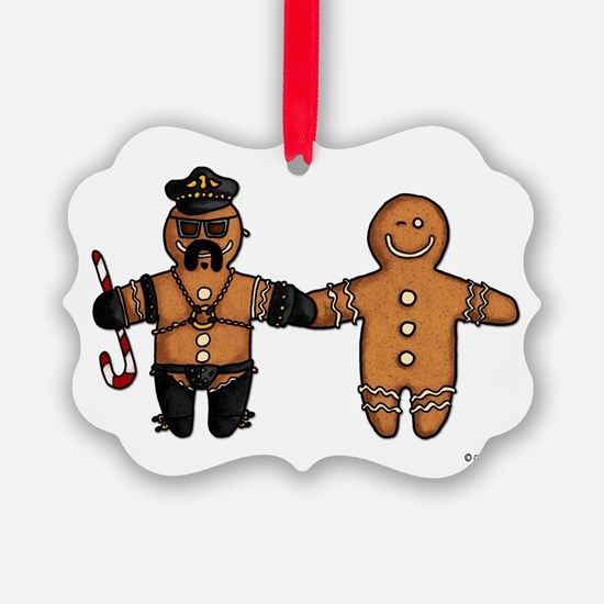 gay gingerbread couple Ornament