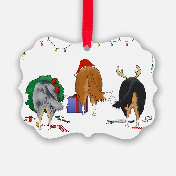 Rough Collie Ornament