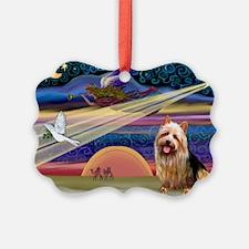 Xmas Star Aussie Terrier Ornament