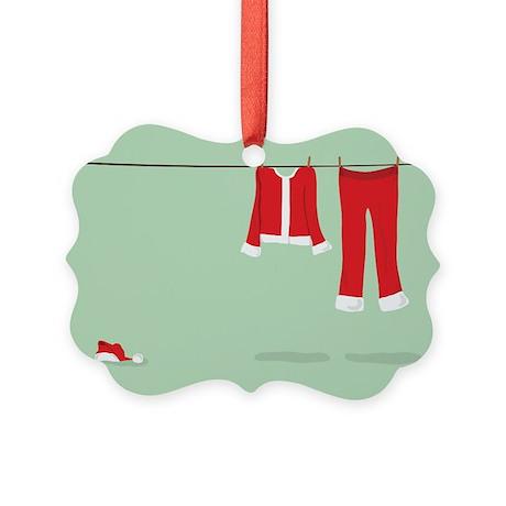 Santa Clothes Line Picture Ornament
