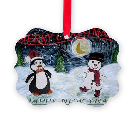 Christmas Wishes Picture Ornament