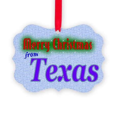 Texas Christmas Card Picture Ornament