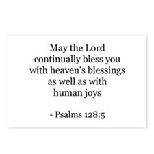 Psalms 128:5 Postcards (Package of 8)