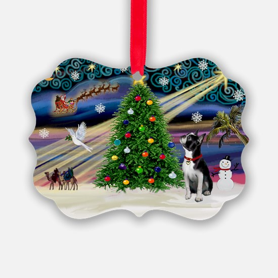 XmasMagic Boston Terrier Ornament(Pk of 20