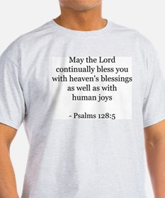 Psalms 128:5 Ash Grey T-Shirt