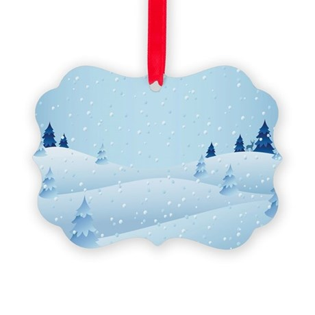 Snowy Scene Picture Ornament