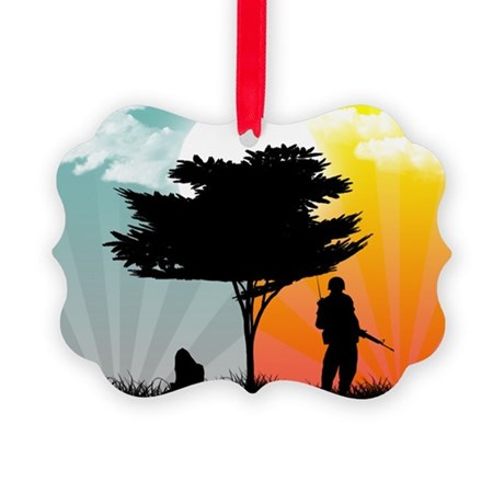 Never too far Picture Ornament
