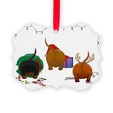 Dachshund christmas Picture Frame Ornaments