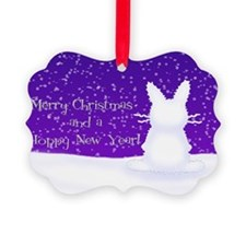 Snow Bunny Ornament