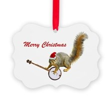 Christmas Banjo Squirrel Ornament