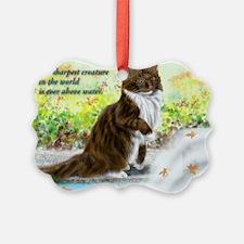 Wonderful sharp skogkatt Ornament