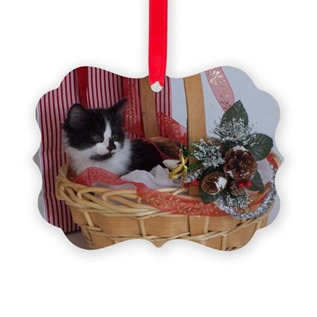 Kitten Christmas Picture Ornament