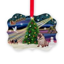 Xmas Magic & Pug Ornament