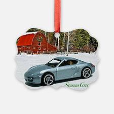 Silver Toy Car Ornament