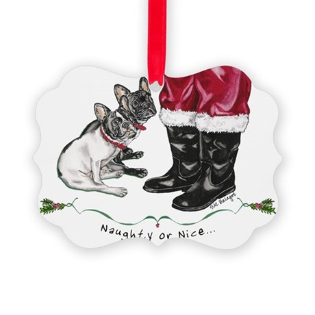 Naughty or Nice Picture Ornament