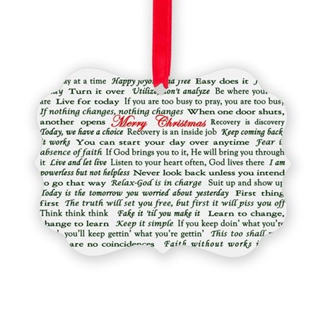 Merry Christmas Slogan Card Picture Ornament