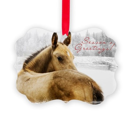 Christmas Foal Picture Ornament