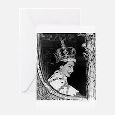 Oldskool Queen Elizabeth Greeting Card