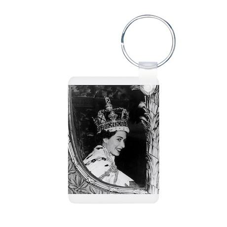 Oldskool Queen Elizabeth Aluminum Photo Keychain