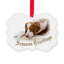 Cute American brittany Ornament