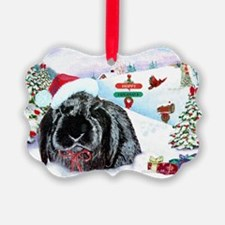 Inky Rabbit Christmas Ornament